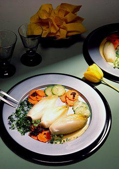 Accompaniment, Endives, Chicory, Carrots, Table, Meals