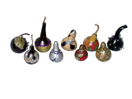 Gourds, African Gourds, Christmas, Ornaments