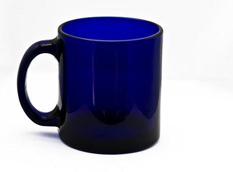 Cup, Glass, Blue, Mug, Equipment