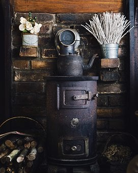 Antique, Can, Container, Display, Equipment, Furnace