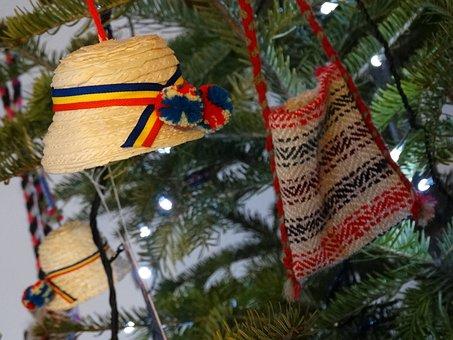 Hats, Maramures, Christmas, Ornaments, Bag