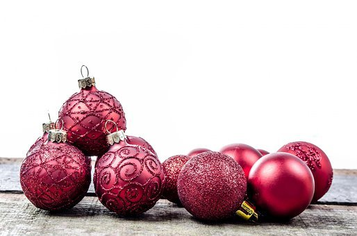 Decoration, Red, Christmas Time, Christmas Baubel
