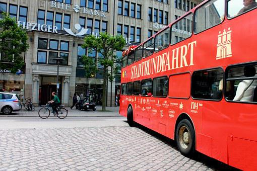 City Tour, Hamburg, Lower Saxony, Bus, City