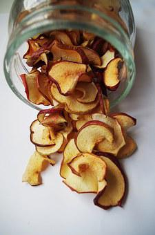 Dried Apples, Cup, Spilled
