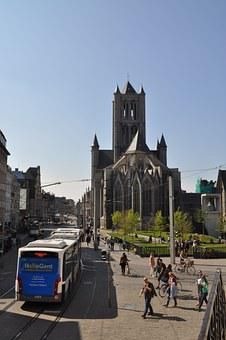 Ghent, Square, Church, City centrre, Downtown