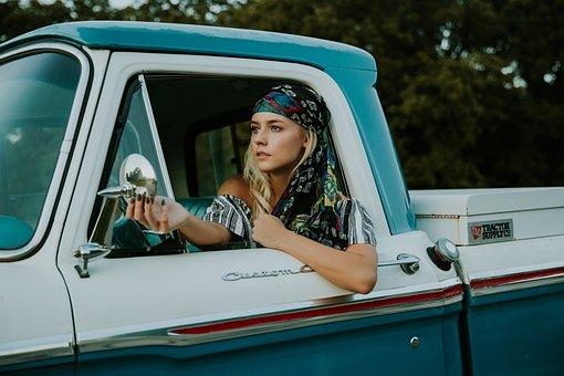 Beautiful, Car, Driver, Face, Fashion, Female, Model