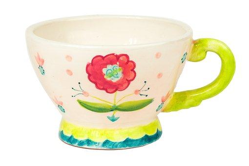 Cup, Flowers, Breakfast