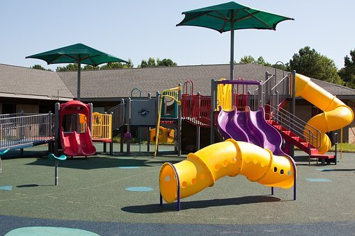 Playground, Swing, Slide, School, Fun, Activity