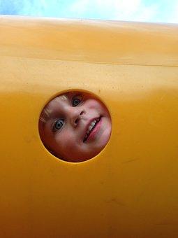 Child, Play, Playground, Yellow, Happy, Playing, Fun
