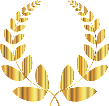 Laurel, Wreath, Conquest, Triumph, Victory, Win, Golden