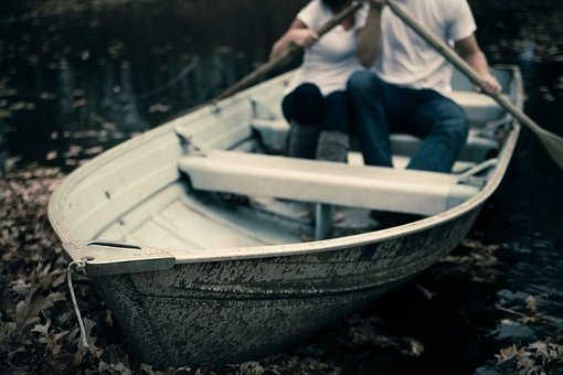 Boat, Lake, Leaves, Macro, Man, Outdoors, People, River