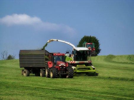 Germany, Landscape, Scenic, Farm, Combine, Tractor