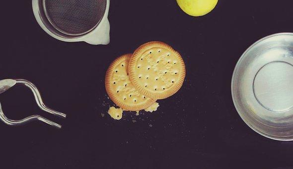 Biscuit, Lemon, Spoon, Dessert, Sweet, Snack, Cup