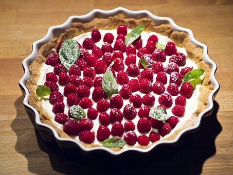 Cake, Tart, Raspberries, Mint, Dessert, The Sweetness