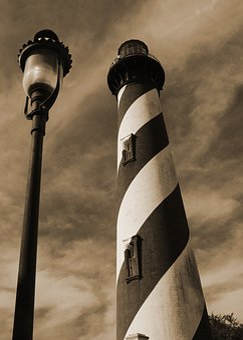 Lighthouse, St Augustine, Florida, Sepia