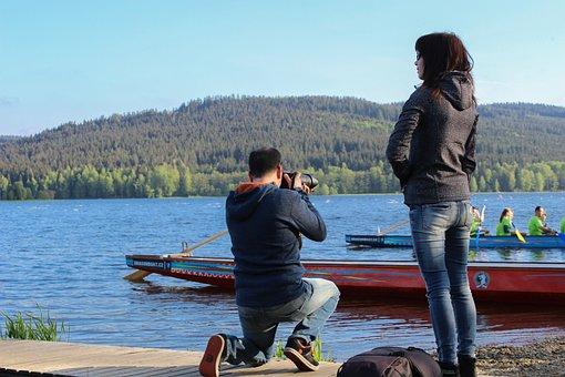 Photographer, Lide, Landscape, Snapshot