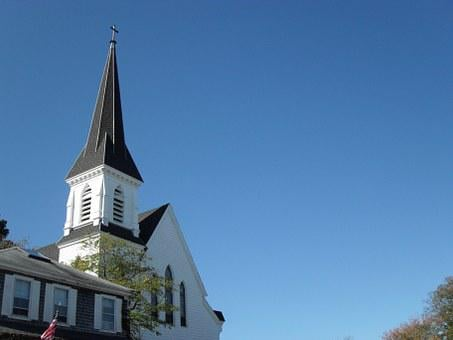 Church, New England, Steeple, White, Architecture, God