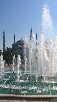 Mosque, Fountain, Summer, Istanbul, Turkey, Landmark
