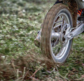 Wheel, Moto, Motocross, Rear, Mud, Race, Sideslip