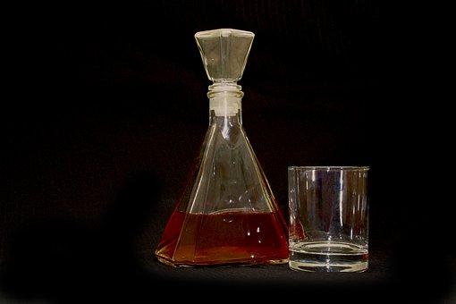 Bottle, Brandy, Glass, Alcohol, Beverages, Alcoholic
