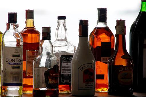 Alcohol, Bottles, Counter, Bar, Alcoholic, Brandy