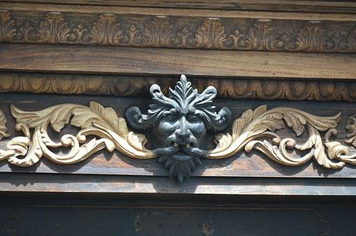 Devil, Carving Wood, Architecture, Draught