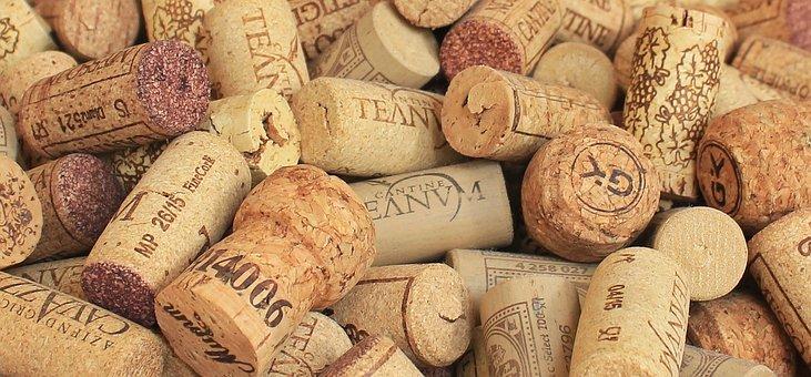 Champagne Cork, Wine Corks, Background, Bottle Corks