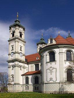 Basilica, Ottobeuren, Church, House Of Worship, Baroque