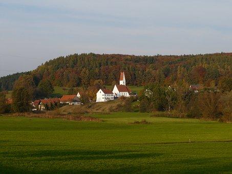 Perennials, Bavaria, Village, Swabia, Siegertshofen