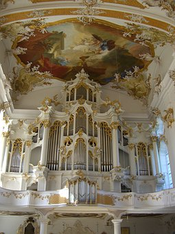 Monastery Church, Roggenburg, Swabia, Bavaria, Organ