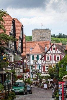 Besigheim, Kirch Road, Old Town, Truss, Swabia