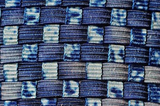 Braid, Background, Woven, Rubber Bands, Blue Pattern