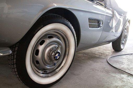 Wheel, Mature, Rim, Bmw 507, Two Seater Roadster