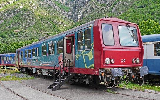 Old Railcar, Sncf, Museum, Breil-sur-roya