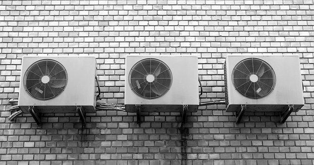 Wall, Fan, Air Conditioning, Box, Metal, Building