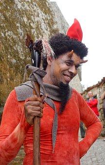 Costume, Devil, Red, Carnival, Demon, Horns, Male
