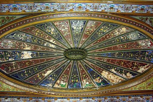Tunisia, Tunis, Bardo, Palace, Ceiling, Decoration