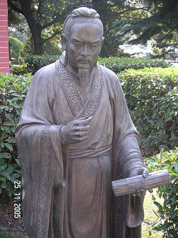 China, Statue, Chinese, Ancient, Scholar