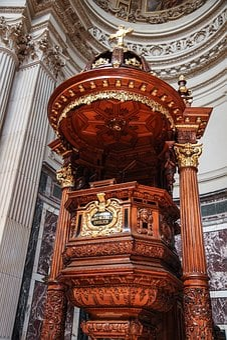 Church Podium, Platform, Christianity, Podium, Worship