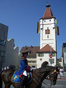Ulmer Gate, City Gate, Biberach, Upper Swabia, Sky
