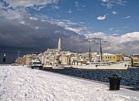 Sea, Snow, Winter, Nature, Coast, Shore, Cold, Coastal