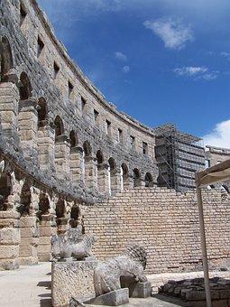 Amphitheater, Croatia, Pula, Coliseum, Ancient, Europe