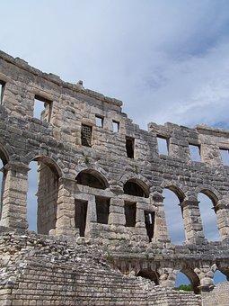 Pula, Croatia, Colosseum, Ancient, Roman, Europe