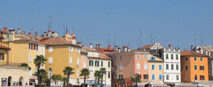 Istria, Rovinj, Croatia, Homes, Antennas, Port
