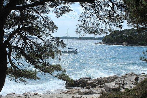 Sailing Boat, Sea, Croatia, Beach, Istria
