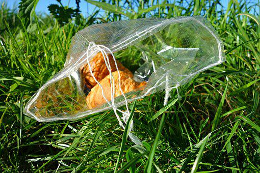 Croissant, Roll, Bread, Food, Waste, Litter, Grass