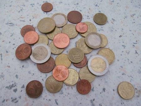 Money, Loose Change, Coins, Currency, Euro, Specie