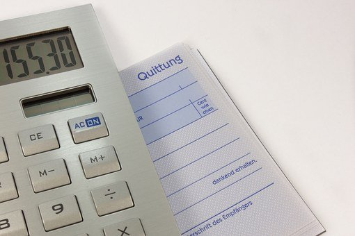 Calculator, Pay, Receipt, Invoices, Debt, Count