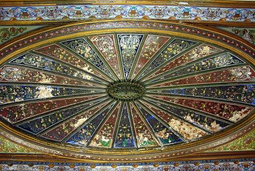 Tunisia, Tunis, Bardo, Palace, Ceiling, Decoration