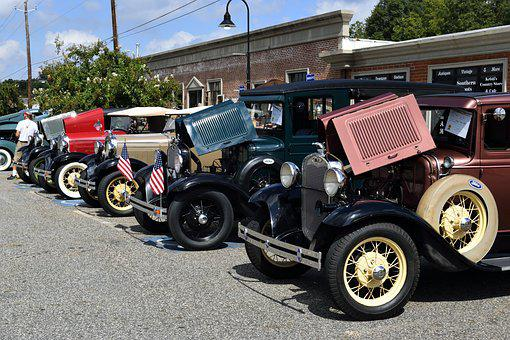 Vintage Cars, Show, Display, Vintage, Vehicle, Classic